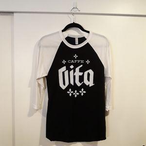 Caffe Vita logo baseball tee